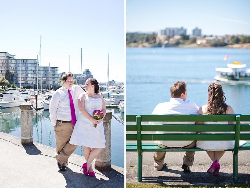 Wedding photographs in Victoria, BC.