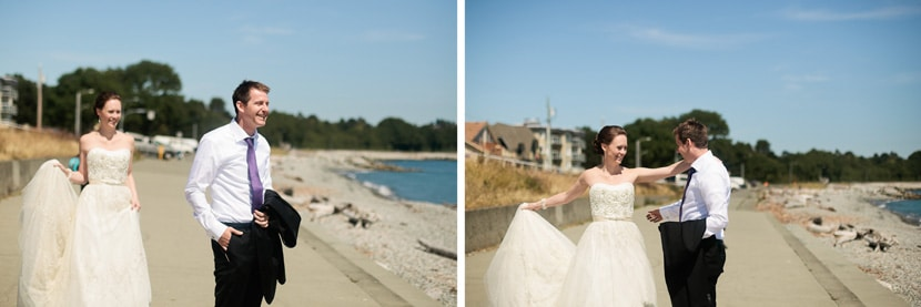 first look wedding photography at dallas road waterfront