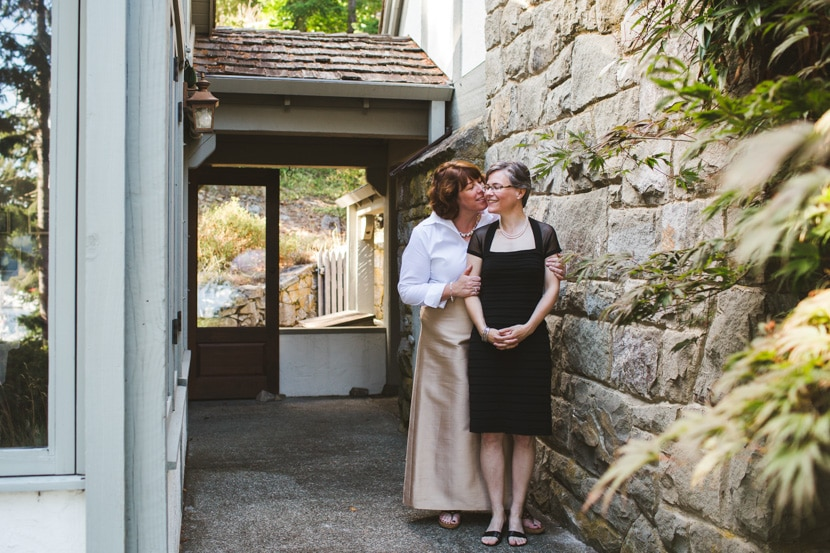 same sex wedding photography on salt spring island