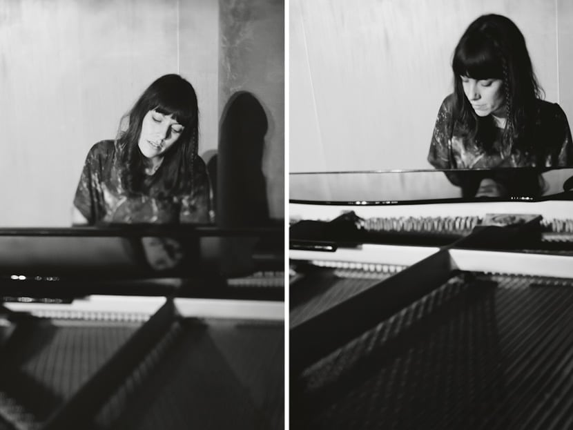 ainjel emme playing the piano at threshold sound