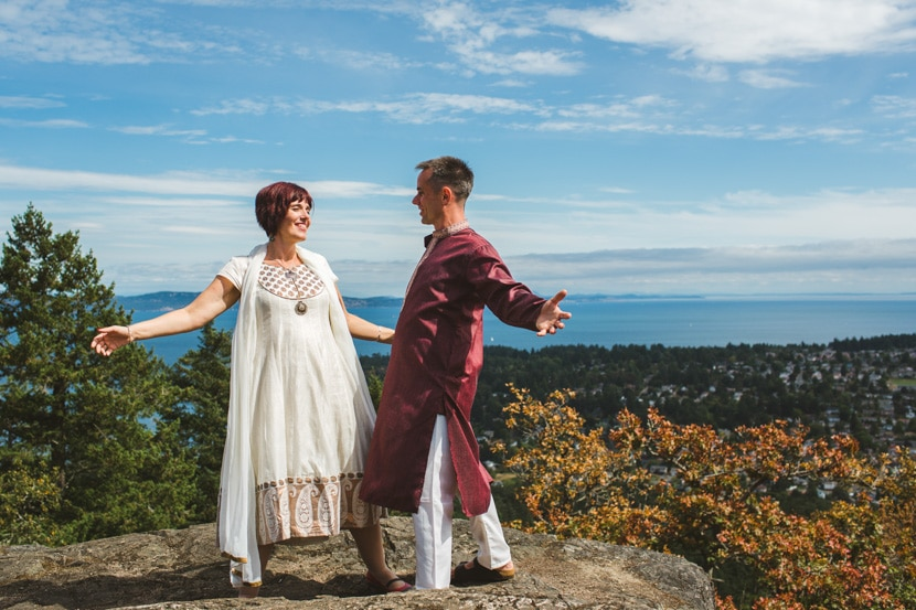 Mountain top elopement in Victoria, BC