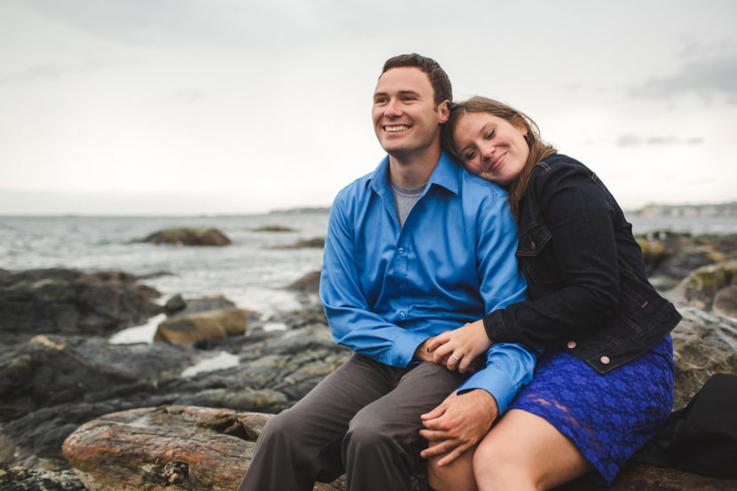 Victoria bc engagement photography at Cattle Point