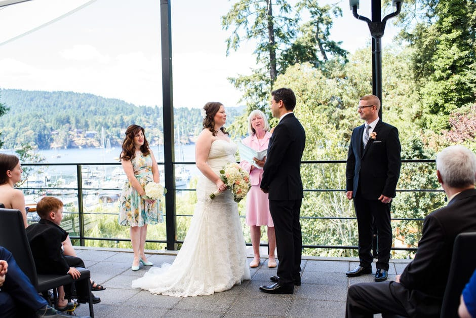brentwood bay resort wedding ceremony