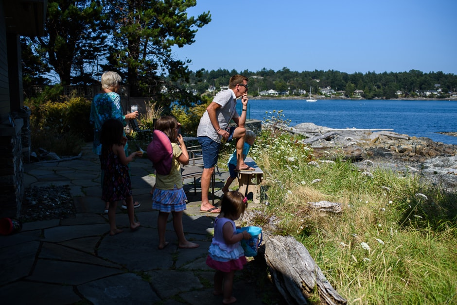oceanfront family gathering victoria bc